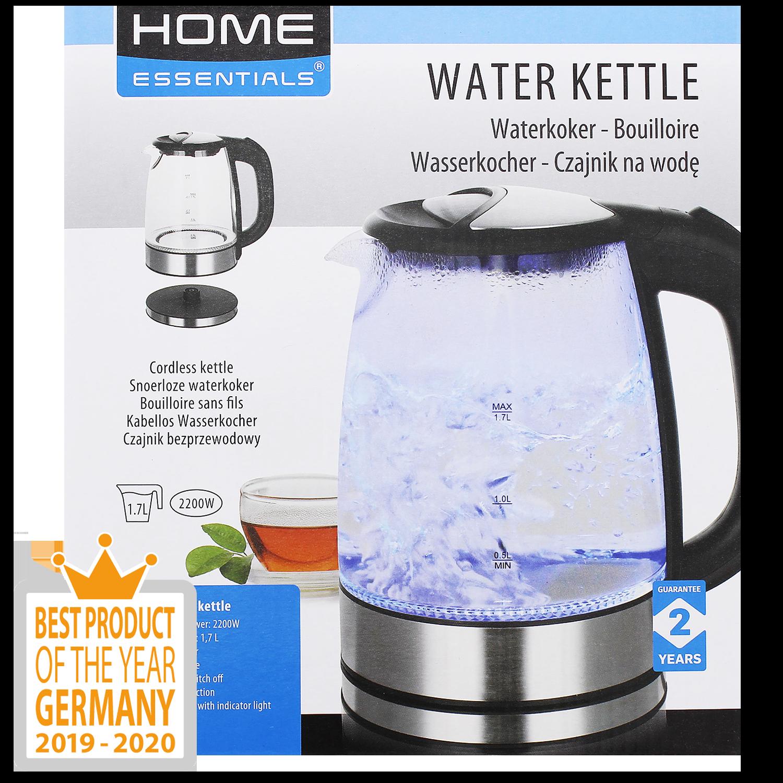 Home Essentials glazen waterkoker