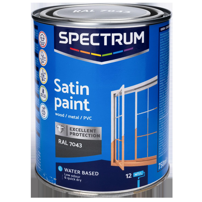spectrum peinture acrylique satin e pour int rieur et ext rieur. Black Bedroom Furniture Sets. Home Design Ideas