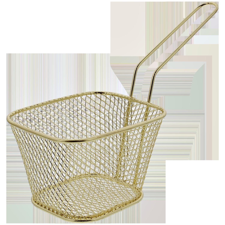 Schrimps Mini Frittierkorb zum Servieren von Pommes Tapas usw Spetebo Pommeskorb - Servierkorb der besonderen Art 1 Stück